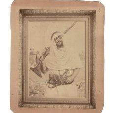 Fotografía antigua: FOTOGRAFÍA CUADRO. MARROQUI. TROPAS NOMADAS. 20X 24.. Lote 190426952