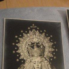 Fotografia antica: ANTIGUA FOTOGRAFIA.VIRGEN DE LA ENTRELLA.FOTO GARD SEVILLA AÑOS 60.. Lote 190482503