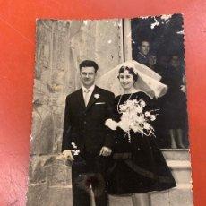 Fotografía antigua: ANTIGUA FOTOGRAFIA DE BODA, 1960, FOTOGRAFO RICARDO FRANCESCH FARRAN, ESPLUGA DE FRANCOLI . Lote 190500050