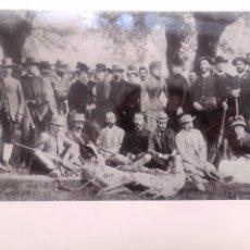 Fotografía antigua: FOTO. CACERÍA REAL EN RIOFRÍO, AÑO 1884. ALFONSO XII. Lote 190531107
