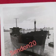 Fotografía antigua: FOTOGRAFIA PETROLERO KIRKUK. FACTORIA DE MATAGORDA PARA IRAQI MARITIME TRANSPORT CO. Lote 190778068