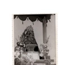 Fotografía antigua: PLASENCIA.(CÁCERES).- VIRGEN DEL PUERTO. PROCESIÓN. FOTO M. DIEZ. 9X11,5.. Lote 191092675