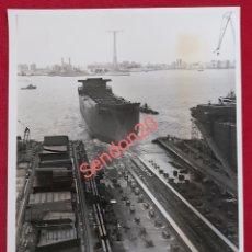 Fotografía antigua: FOTOGRAFIA BULKCARRIER GARTHENEWYDD. FACTORIA DE MATAGORDA PARA GARTH SHIPPING. Lote 191109523