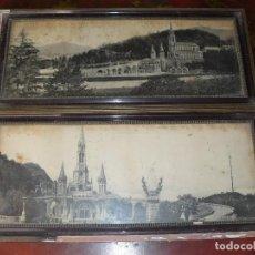 Fotografía antigua: ANTIGUAS FOTOGRAFIAS ENMARCADAS LOURDES PRINCIPIOS DEL SIGLO XX. Lote 191154675