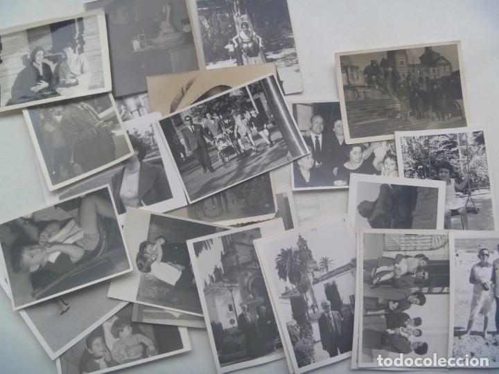 Fotografía antigua: LOTE DE 100 FOTOS FAMILIARES EN BLANCO Y NEGRO, AÑOS 50 - 60, ETC - Foto 5 - 191254143