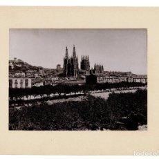 Fotografía antigua: BURGOS.- VISTA PANORÁMICA DE LA CATEDRAL.- 25X32. CON PASPARTÚ.. Lote 191280787