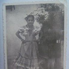 Fotografía antigua: FOTO DE FERIA : NIÑA VESTIDA DE FLAMENCA . Lote 191654071