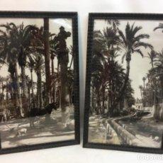 Fotografía antigua: ORIGINAL PAREJA CUADROS FOTOGRAFÍA DE ELCHE, 1930/40. Lote 192824428