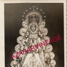 Fotografía antigua: ANTIQUISIMA FOTOGRAFIA DE LA VIRGEN DEL ROCIO, 65X95MM. Lote 193957626