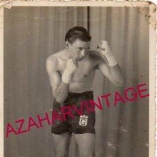 Fotografía antigua: BOXEO, FOTOGRAFIA ORIGINAL DEL CAMPEON DE PORTUGAL,GRACA I, 90X140MM. Lote 193984766