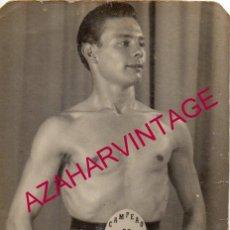 Fotografía antigua: BOXEO, FOTOGRAFIA ORIGINAL DEL CAMPEON DE PORTUGAL,GRACA I, 75X105MM. Lote 193997766