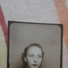 Fotografía antigua: ANTIGUA FOTOGRAFIA DE CHICA.FOTOMATON AÑOS 40. Lote 194243663
