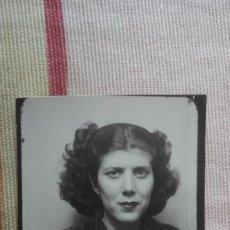 Fotografía antigua: ANTIGUA FOTOGRAFIA DE CHICA.FOTOMATON AÑOS 40. Lote 194243742