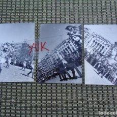 Fotografía antigua: 3 CURIOSAS FOTOS FALLAS DE VALENCIA - FALLA PLAZA DEL CAUDILLO - 1974. Lote 194243798