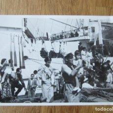 Fotografía antigua: 1936-REFUGIADOS DE GUERRA.BARCO ALEMÁN.LEGIÓN CÓNDOR.GUERRA CIVIL ESPAÑA.FRANCO.FOTOGRAFÍA ORIGINAL. Lote 194272372