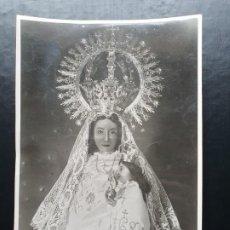 Fotografía antigua: FOTOGRAFÍA DE LA VIRGEN DE LOS MILAGROS, ÁGREDA, SORIA. 1947. Lote 194297426