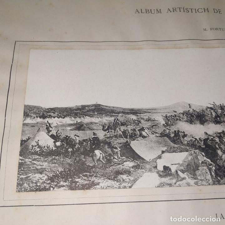 Fotografía antigua: LA BATALLA DE TETUAN. REPRODUCCIÓN FOTOGRAFICA DE LA PINTURA DE FORTUNY. ESPAÑA. XIX - Foto 9 - 181743468