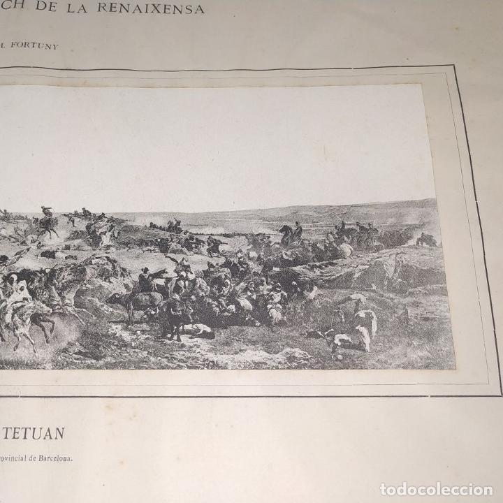 Fotografía antigua: LA BATALLA DE TETUAN. REPRODUCCIÓN FOTOGRAFICA DE LA PINTURA DE FORTUNY. ESPAÑA. XIX - Foto 10 - 181743468