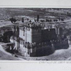 Fotografía antigua: FOTOGRAFIA AEREA 32 X 21 CM CASTILLO DE COCA SEGOVIA CIRCA 1930. Lote 194489455