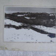 Fotografía antigua: FOTOGRAFIA AEREA 29 X 19 CM BRECHA DE ROLANDO HUESCA PIRINEOS CIRCA 1930. Lote 194490000