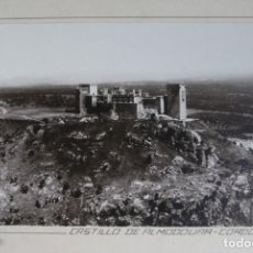 Fotografía antigua: FOTOGRAFIA AEREA 29 X 19 CM CASTILLO DE ALMODOVAR CORDOBA CIRCA 1930. Lote 194490290