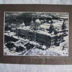 Fotografía antigua: FOTOGRAFIA AEREA 32 X 21 CM CM BARCELONA PALACIO NACIONAL DE LA EXPOSICION CIRCA 1930. Lote 194490530