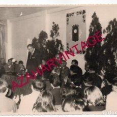 Fotografía antigua: SEMANA SANTA SEVILLA, 1966, JUAN DELGADO ALBA, I PREGON DEL TIRO DE LINEA, MUY RARA, 175X115MM. Lote 194522183