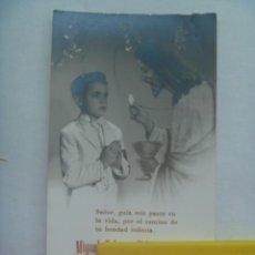 Fotografía antigua: PRECIOSA FOTO DE ESTUDIO DE NIÑO DE PRIMERA COMUNION EN ESTAMPA. ELDA, 1961. Lote 194530407