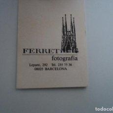 Fotografía antigua: ESTUCHE CON DOS FOTOGRAFIAS TAMAÑO CARNET DE FERRET FOTOGRAFIA 8 X 6 CM. Lote 194568548