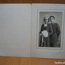 Fotografía antigua: ANTIGUA FOTO DE BODAS. Lote 194585026