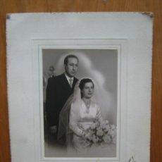 Fotografía antigua: ANTIGUA FOTO DE BODAS. Lote 194585068