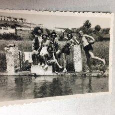 Fotografía antigua: ANTIGUA FOTOGRAFIA - EXCURSIONISTAS - ARACENA - HUELVA - 8.5X6CM. Lote 194654660