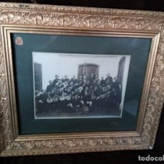 Fotografía antigua: FOTOGRAFÍA (SIGLO XIX O PPS. S. XX) / * ASOCIACIÓN ESCOLAR. ZARAGOZA *. MARCO DORADO S. XIX.. Lote 194705550