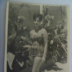Fotografía antigua: FOTO DE SEÑORITA EN BAÑADOR. Lote 194709891