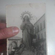 Fotografía antigua: BAEZA, JAÉN - VIRGEN EN PROCESIÓN - ANTIGUA FOTOGRAFÍA PROFESIONAL - SELLADA AL DORSO. Lote 194733425