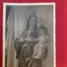 Fotografía antigua: ANTIGUA FOTO RELIGIOSA. VIRGEN DEL SOCORRO. FOTO M. PALMA. Lote 194963055