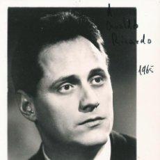 Fotografía antigua: OPERA - BAJO BARITONO ITALIANO SESTO BRUSCANTINI - FOTO 17X13CM CON AUTÓGRAFO ORIGINAL 1965. Lote 195023661