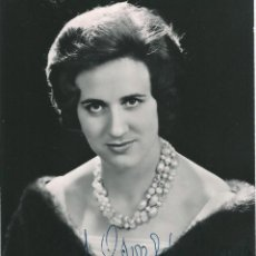 Fotografía antigua: OPERA - SOPRANO ITALIANA ADRIANA LAZZARINI - FOTO 15X10CM CON AUTÓGRAFO ORIGINAL 1954. Lote 195028643