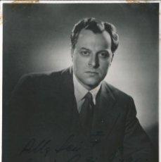Fotografía antigua: OPERA - BAJO BULGARO BORIS CHRISTOFF - FOTO 18X12CM CON AUTÓGRAFO ORIGINAL 1950'. Lote 195040625