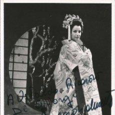 Fotografía antigua: OPERA - SOPRANO ITALIANA MIETTA SIGHELE - FOTO 15X10CM CON AUTÓGRAFO ORIGINAL 1960'. Lote 195041362