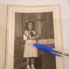 Fotografía antigua: FOTOGRAFÍA NIÑA DE COMUNIÓN. WANKER, SAMA DE LANGREO. ASTURIAS. Lote 195056820