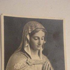 Fotografía antigua: ANTGUA FOTOGRAFIA.VIRGEN O SANTA SIN IDENTIFICAR.FOTO BARREIRO.JEREZ AÑOS 50?. Lote 195097511
