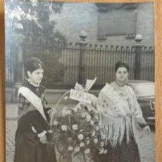 Fotografía antigua: FOTOGRAFIA OFRENDA FIESTAS PILAR, DE BORJA, ZARAGOZA. AÑO 1968.. Lote 195097597