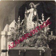 Fotografía antigua: VILLALBA DEL ALCOR, ANTIGUA FOTOGRAFIA PROCESION DE SANTA AGUEDA, MUY RARA, 105X148MM. Lote 195181533