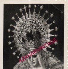 Fotografía antigua: SEMANA SANTA SEVILLA, 1965, ESPERANZA DE TRIANA, RECUERDO BENDICION RETABLO Y SAGRARIO,70X100MM. Lote 195183085