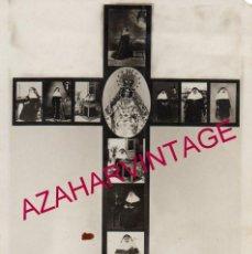 Fotografía antigua: SEVILLA, RARISIMA FOTOCOMPOSICION DE SOR ANGELA DE LA CRUZ, 85X125MM. Lote 195222203