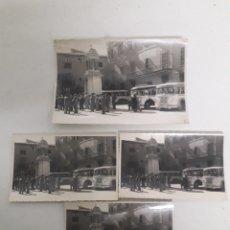Fotografía antigua: 4 FOTOGRAFÍAS DE EXCURSIÓN POR CATALUNYA CON AUTOBUSES AÑOS 50. Lote 195329897