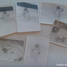 Fotografía antigua: LOTE DE 6 FOTOS DE BEBE EN LA CAMA DE SUS PADRES. 1967. Lote 195332727