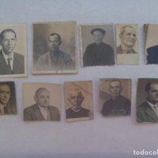Fotografía antigua: LOTE DE 10 FOTOS DE CARNET DE HOMBRES, MEDIADOS DE SIGLO. Lote 195490261