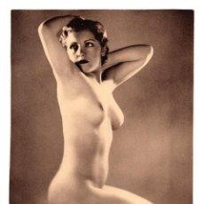 Fotografía antigua: FOTOGRAFÍA.- DESNUDO DE MUJER - FOTO ERÓTICA. 17X23,5.APROX.. Lote 195745467